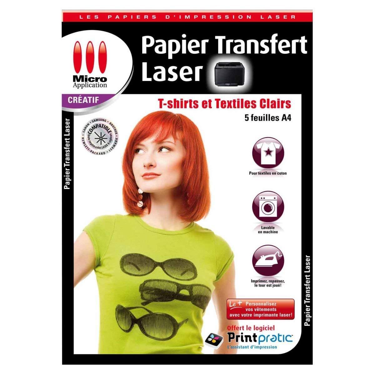 papier transfert laser t shirts et textiles clairs 5. Black Bedroom Furniture Sets. Home Design Ideas