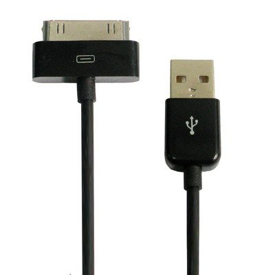 Cable Data et charge USB compatible Apple iphone 4/4S/IPAD IOS 8.0 Noir ou Blanc